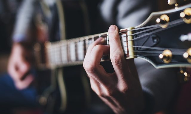 small hand guitar